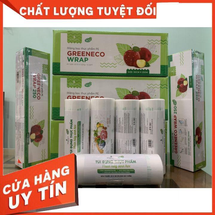 Túi đựng thực phẩm tự hủy ECO kt15*25  cuộn 100 túi.