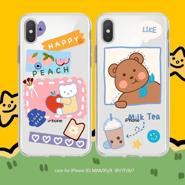 Ốp lưng iphone Quả Đào 6 6S 6Plus 6S Plus 7 8 7Plus 8Plus X XSMax 11 11 Pro 11 ProMax XR - Xưởng Ốp Việt Nam M800