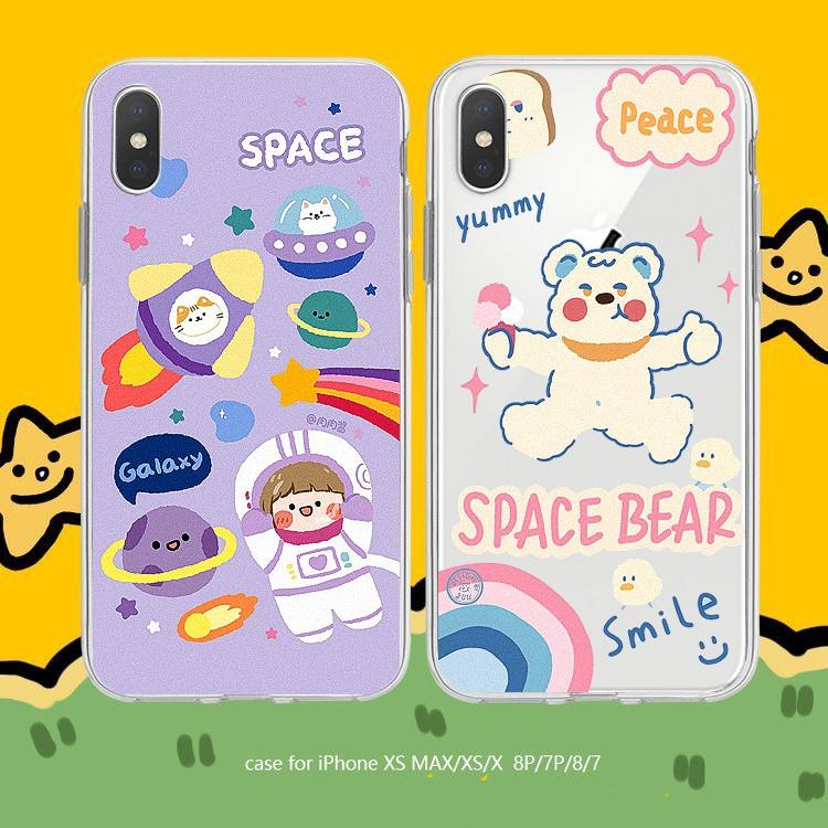 Ốp lưng iphone Gấu Space 6 6S 6Plus 6S Plus 7 8 7Plus 8Plus X XSMax 11 ProMax XR - Xưởng Ốp Việt Nam M803