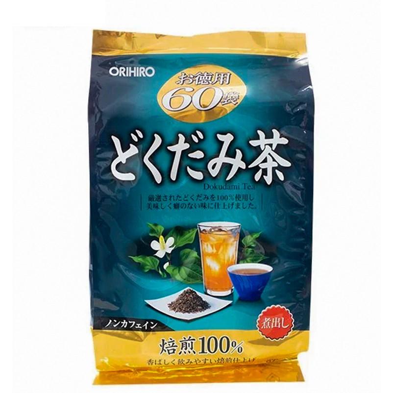 Trà diếp cá Dokudami Tea dạng túi lọc 180g Orihiro Nhật Bản - 60 gói nhỏ