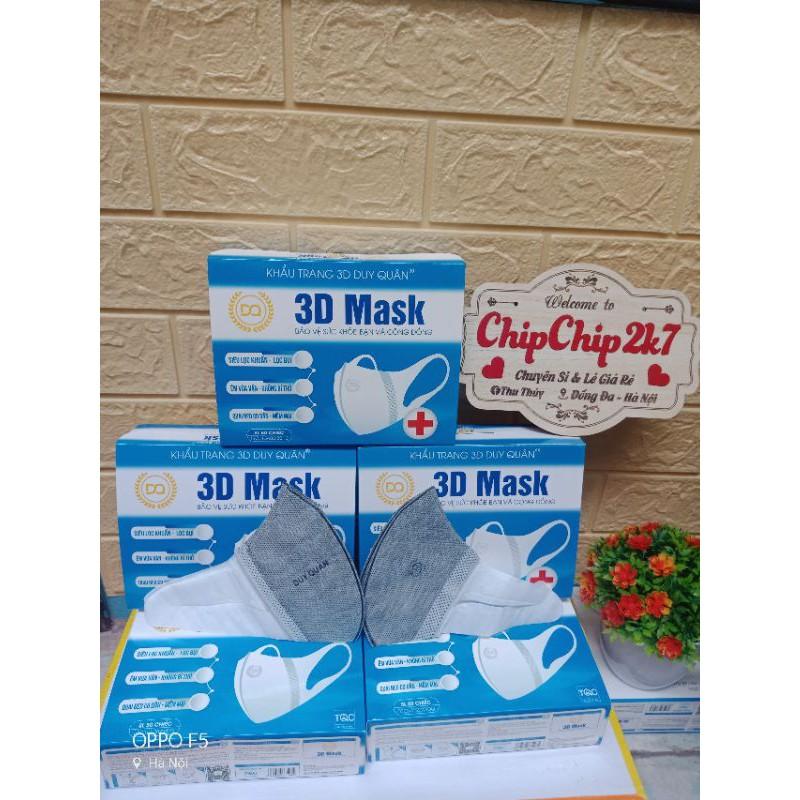 [Mã 66FMCGSALE hoàn 8% xu đơn 500K] (3d Xám)Hộp khẩu trang 3d mask màu Xám công nghệ Nhật 50 cái