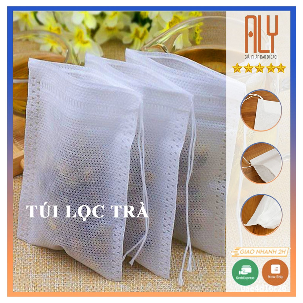 Túi lọc trà vải không dệt có dây buộc đủ size