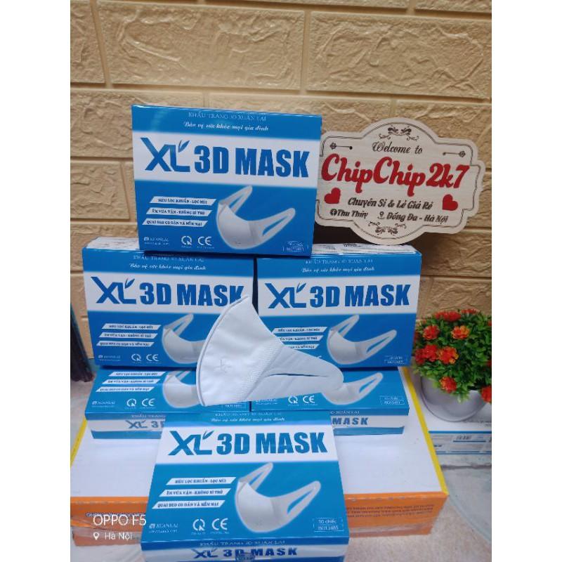 [Mã 66FMCGSALE hoàn 8% xu đơn 500K] (Chính hãng) Hộp khẩu trang 3D mask Xuân Lai công nghệ Nhật