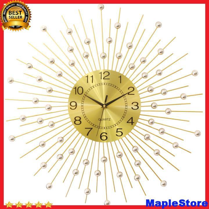 Đồng hồ treo tường trang trí hình giọt nước màu vàng
