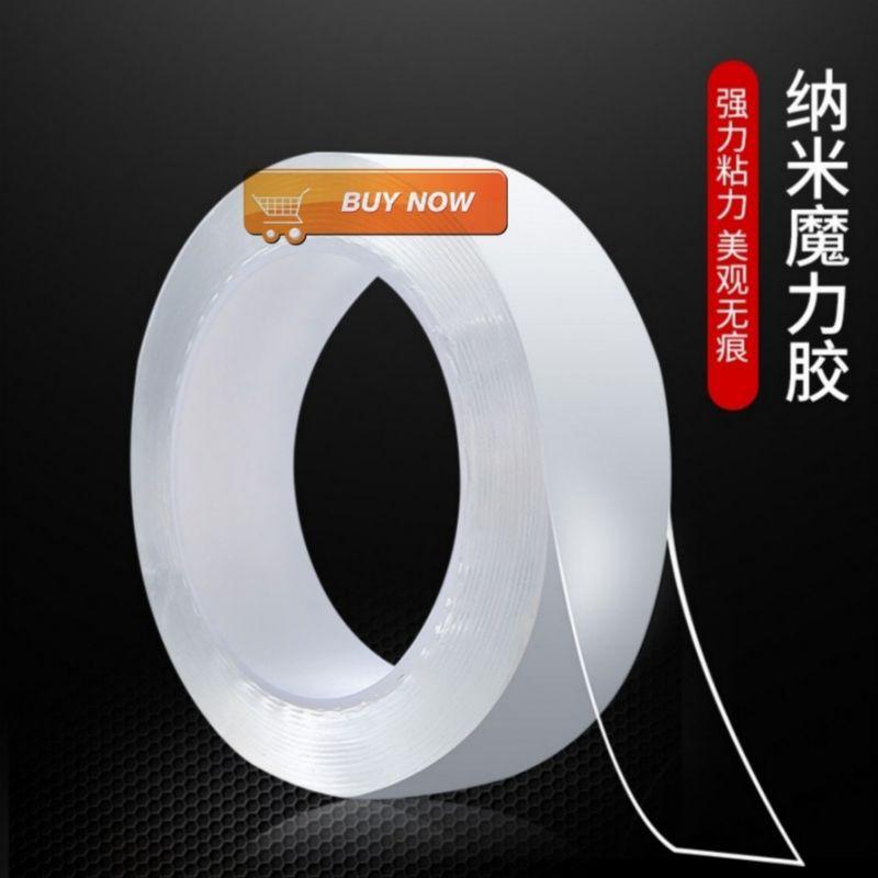 ⚡Giá Hủy Diệt⚡ [Siêu Dính] Cuộn Keo Dính Nano 2 Mặt Trong Suốt Bản Dày 2mm