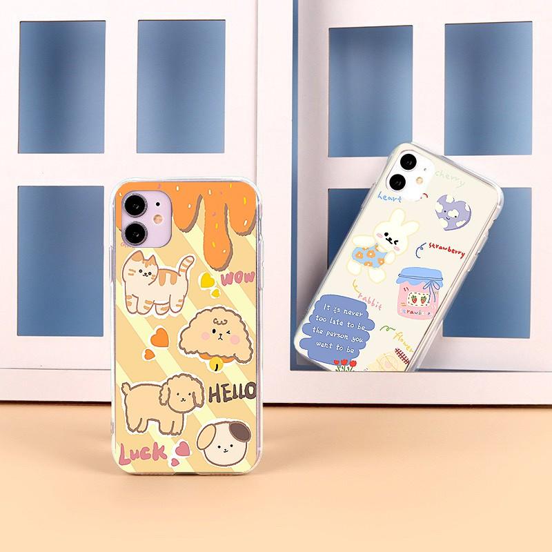 Ốp lưng iphone Thỏ Và Cherry 6 6S 6Plus 6S Plus 7 8 7Plus 8Plus X XSMax 11 ProMax XR - Xưởng Ốp Việt Nam M814