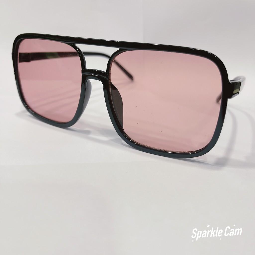 Kính mát gọng vuông chống tia UV400 thời trang dành cho nam và nữ