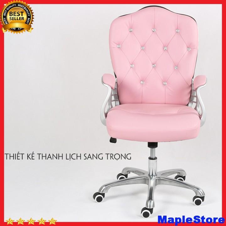 Ghế da xoay văn phòng nữ tính phong cách Châu Âu  phù hợp với phái đẹp kích thước (65*115cm)
