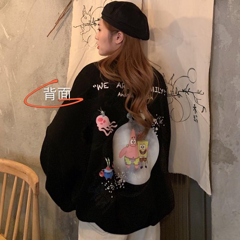 [HD77] Áo Sweater Sao Biển Form Rộng Tay Phồng Hàn Quốc - Liti shop