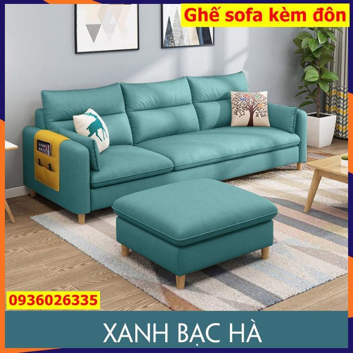 Ghế sofa kèm Đôn, Ghế sofa cao cấp chữ L,Thích hợp để phòng khách hoặc cửa hàng kinh doanh