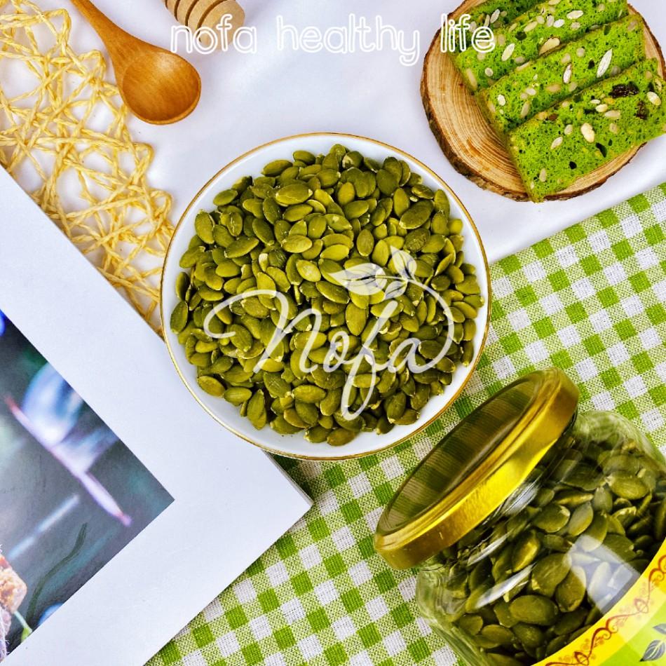 Hạt bí xanh NOFA chắc mẩy sấy giòn nguyên vị 600g, Hạt bí tách vỏ Nhập khẩu Mỹ