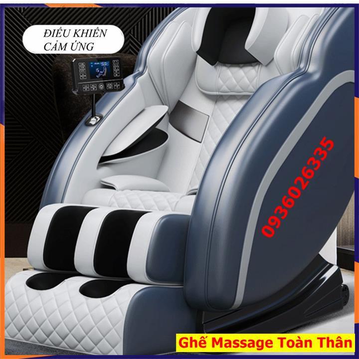 Ghế massage toàn thân thư giãn, kết nối âm thanh Bluetooth, máy massage trị liệu điều khiển bằng màn hình cảm