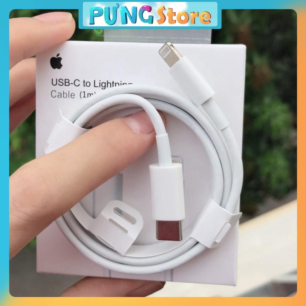 [FULL BOX] Cáp sạc nhanh IPhone chân TypeC-Lightning Full Box BH 12T