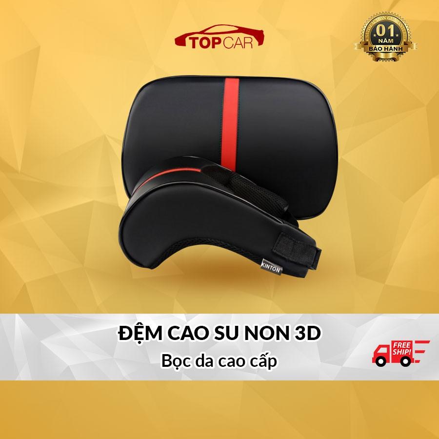 ⚡️Freeship 50k - Toàn quốc⚡️[HÀNG LOẠI 1] Bộ Gối Tựa Đầu + Tựa Lưng 3D CAO SU NON Cao Cấp Cho Xe Ô Tô