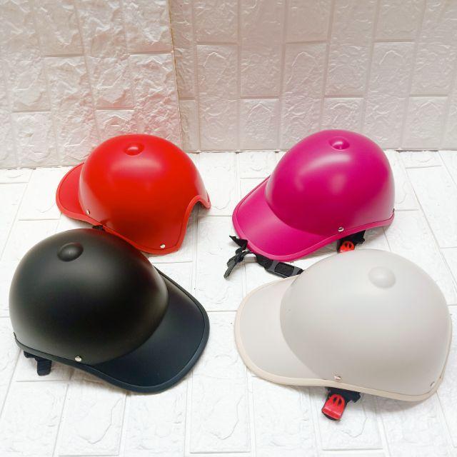 Mũ bảo hiểm thời trang trơn 1 màu