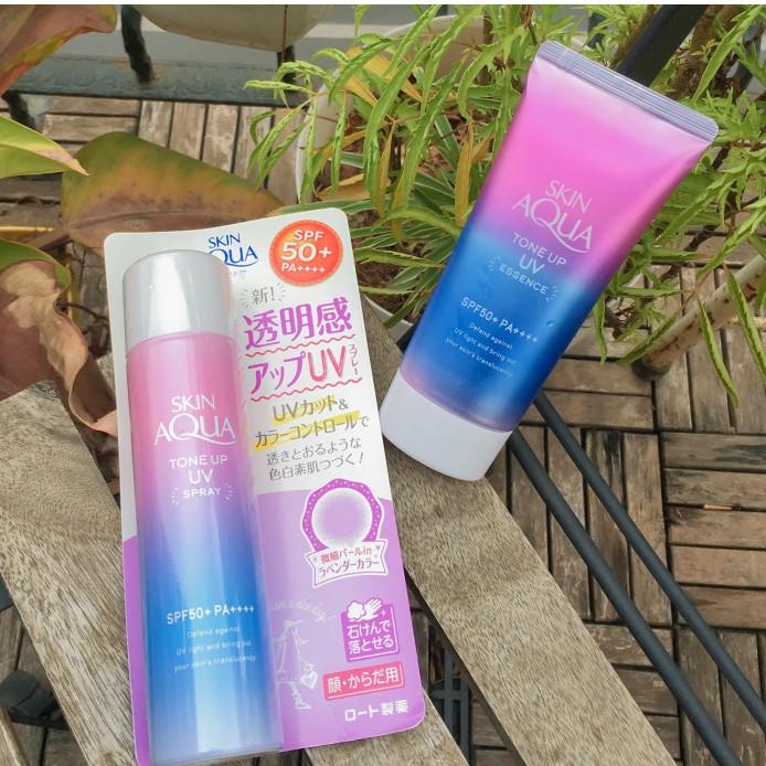 ( bill) Kem chống nắng Skin Aqua Tone up UV SPF 50+ PA++++ 80gr nội địa Nhật