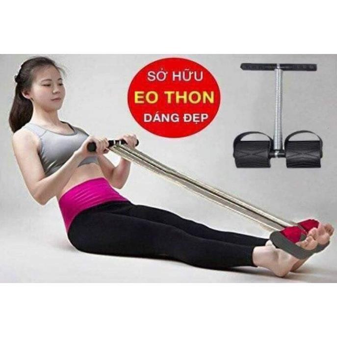 Dụng cụ tập gym 🍀FREESHIP🍀 Dây kéo lò xo tập bụng và lưng - full box- ( loại 1)