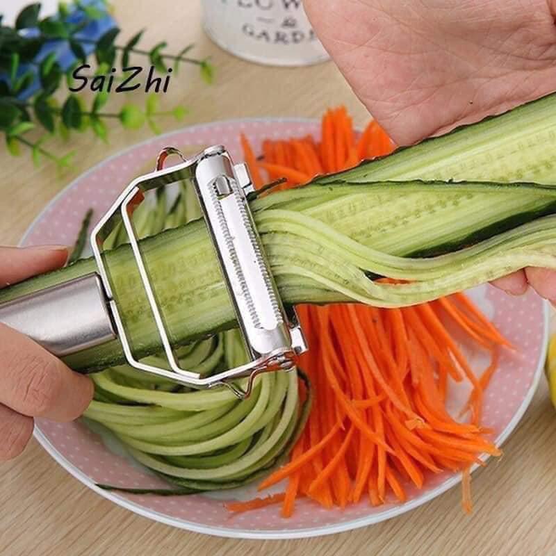 Nạo củ quả Inox cao cấp đa năng 2 in 1 - nạo của quả và bào sợi tiện lợi 17.5cm*5.5cm
