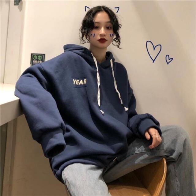 [Mã FATHANG5 giảm 10K đơn 50K] Áo hoodie rộng ulzzang nam nữ tay phồng có dây rút HD40 - Liti shop