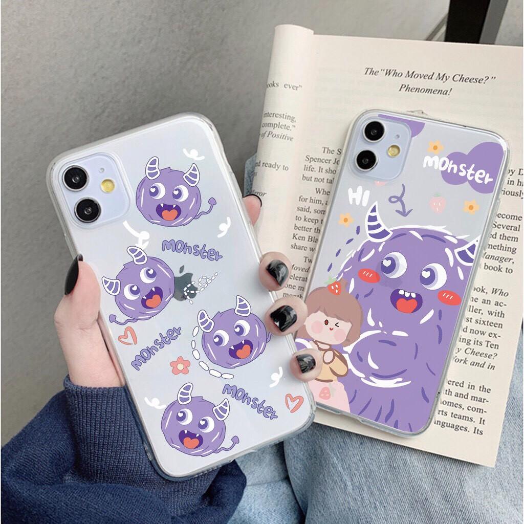 Ốp lưng iphone Monster Tím 6 6S 6Plus 6S Plus 7 8 7Plus 8Plus X XSMax 11 ProMax XR - Xưởng Ốp Việt Nam M545