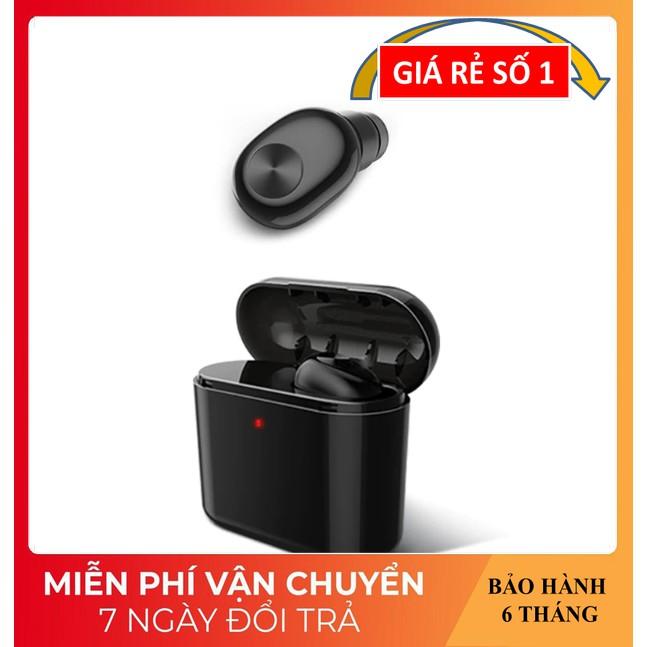 Tai Nghe Nhét Tai ❤️FREESHIP❤️ Tai Nghe Bluetooth Nhỏ Gọn, Thời Trang - Tai Nghe BL1 Có Dock sạc 700mAh Sạc Mọi Nơi