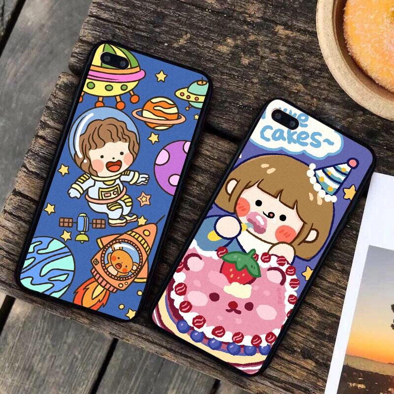 Ốp lưng iphone cứng Bánh kem 6 6S 6Plus 6S Plus 7 8 7Plus 8Plus X XSMax 11 11 Pro 11 ProMax XR - Xưởng Ốp Việt Nam M827