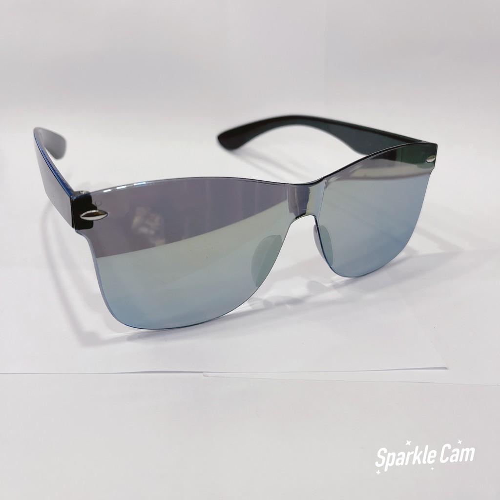 Mắt kính nữ - nam Unisex 6035D màu đen râm mát chống nắng, tia UV 6035D - Form kính gọng kim loại ôm mặt