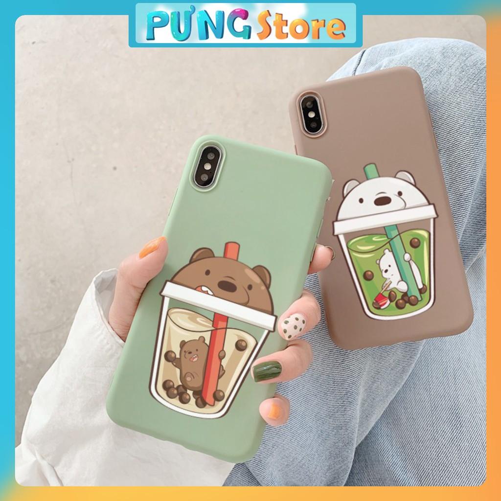 Ốp lưng iphone  Trà sữa gấu 5/5s/6/6plus/6s/6s plus/6/7/7plus/8/8plus/x/xs/xs max/11/11 pro/11 promax