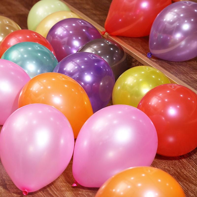 Bong bóng nhũ Thái Lan size to 32cm bóng trang trí sinh nhật (bịch 10 bóng)