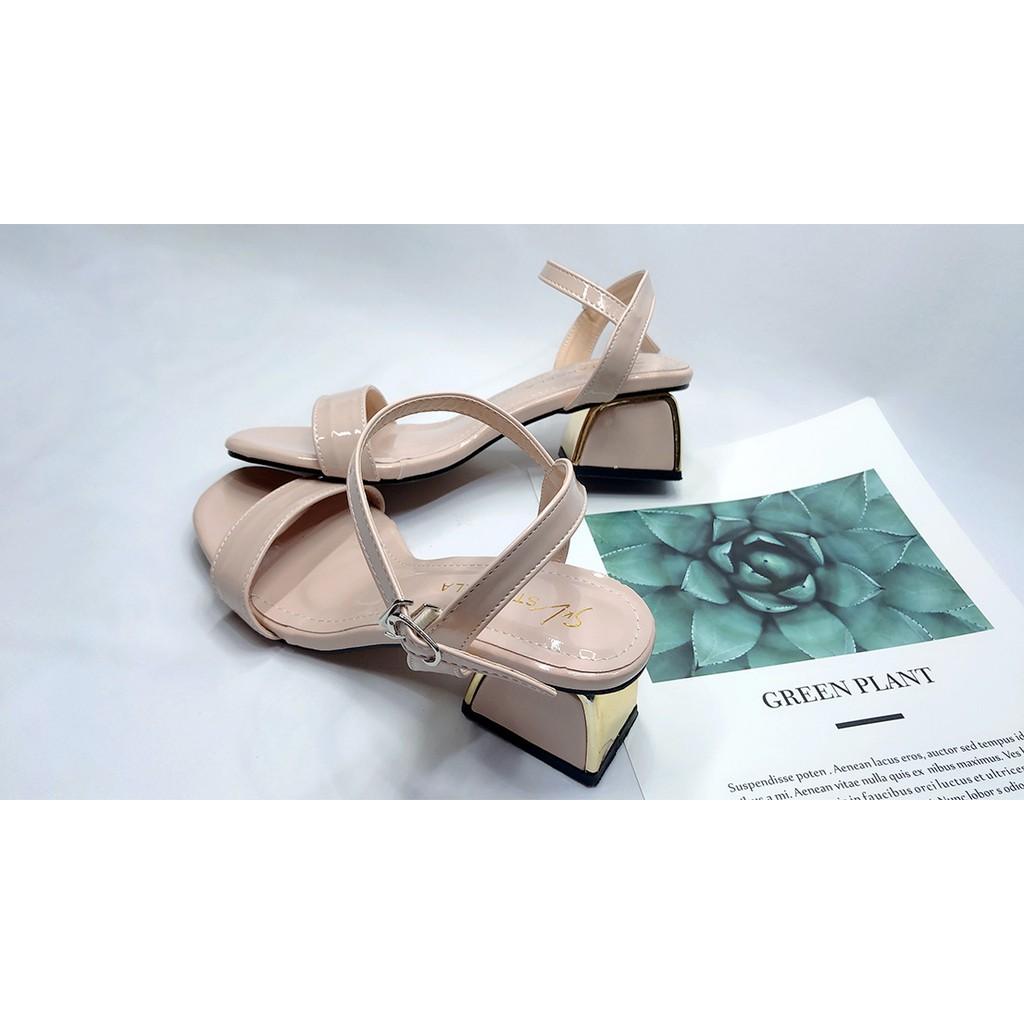 [Nhiều Màu] Giày Dép Cao Gót Nữ 👠 Sandal Cao Gót Sang Chảnh Thời Trang Cao 5cm Đi Làm/ Dự Tiệc Mẫu Mới 2021