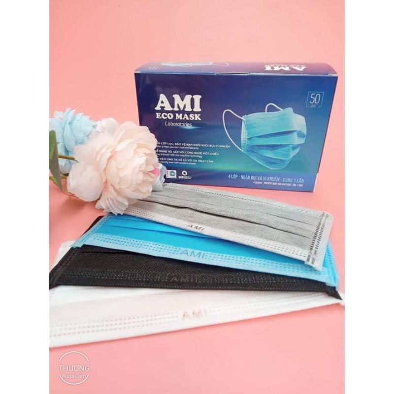 (Giảm giá) Hộp khẩu trang Ami đủ 4 màu chuẩn hãng