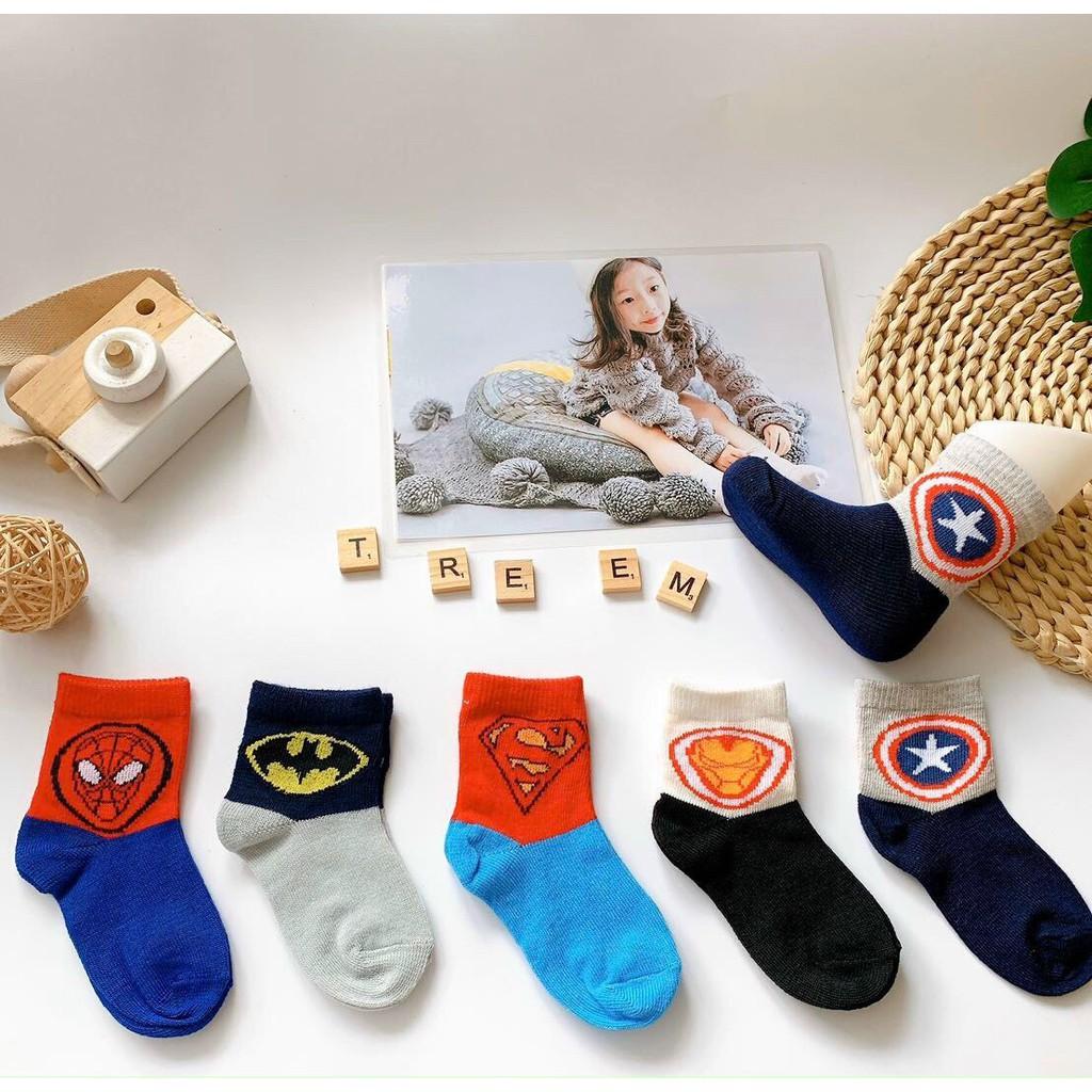 Tất len cổ cao cho bé trai bé gái , hàng xuất Hàn dày dặn có túi zip ( set 5 đôi)