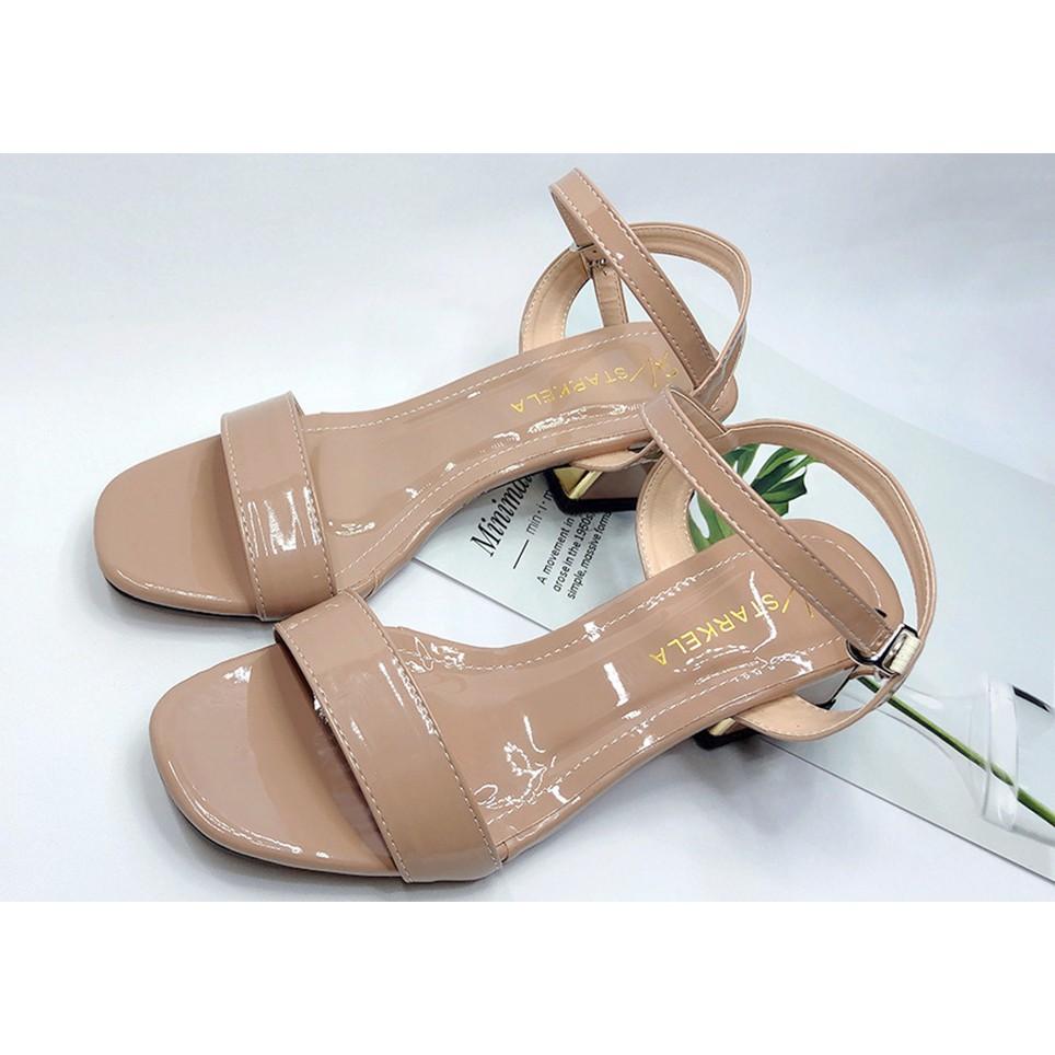 [Màu Đen/ Kem/ Cafe] Giày Cao Gót👠 Sandal Cao Gót Sang Chảnh Thời Trang Cao 5cm Mẫu Mới 2021