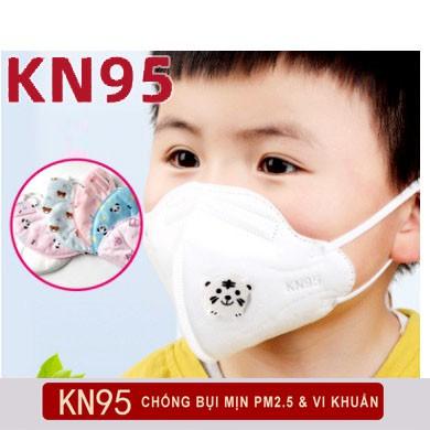 [Có van dễ thở] Khẩu trang KN95 cho trẻ em - Khẩu trang y tế cho trẻ em chống bụi mịn, kháng khuẩn