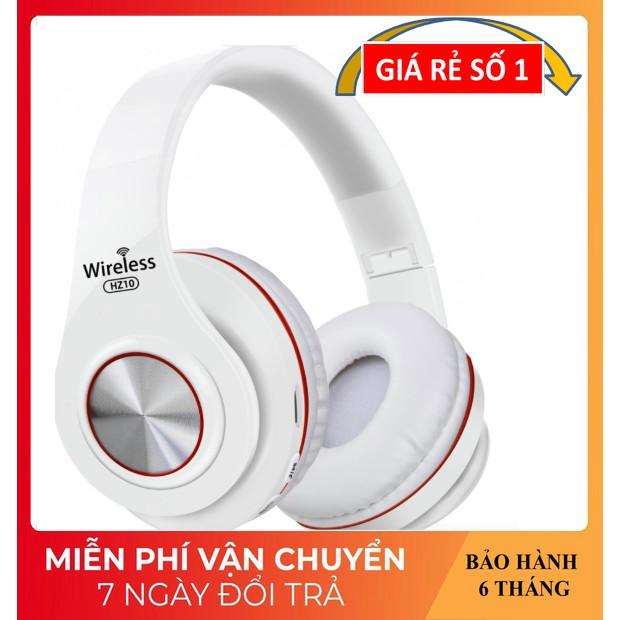 Tai Nghe Chụp Tai ❤️FREESHIP❤️ Tai Nghe Bluetooth Âm Thanh Sống Động - Tai nghe Không Dây HZ-10 Dung Lượng Pin Lớn
