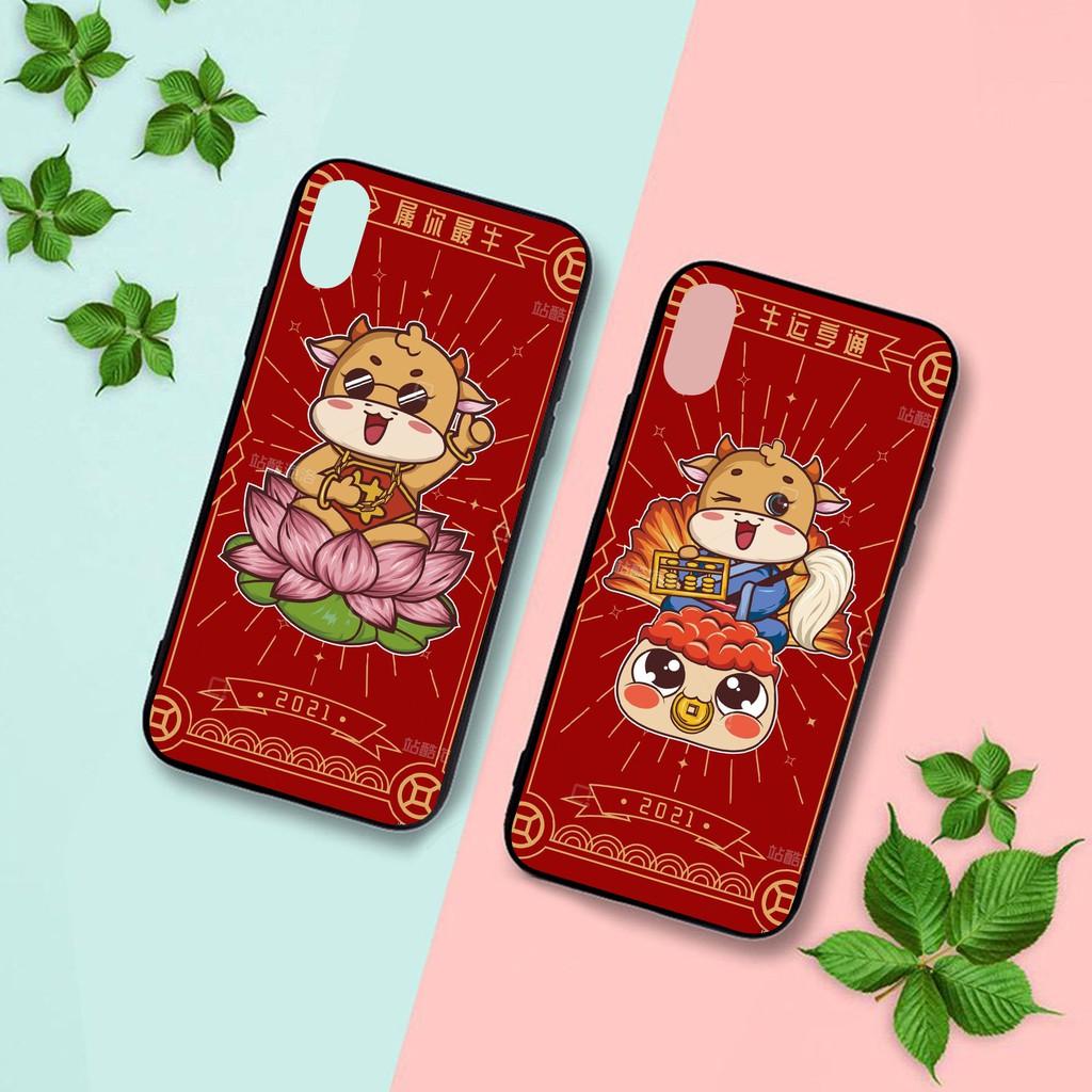 Ốp lưng iphone cứng Trâu Yếm Đỏ  6 6S 6Plus 6S Plus 7 8 7Plus 8Plus X XSMax 11 Pro ProMax - Xưởng Ốp Việt Nam M835