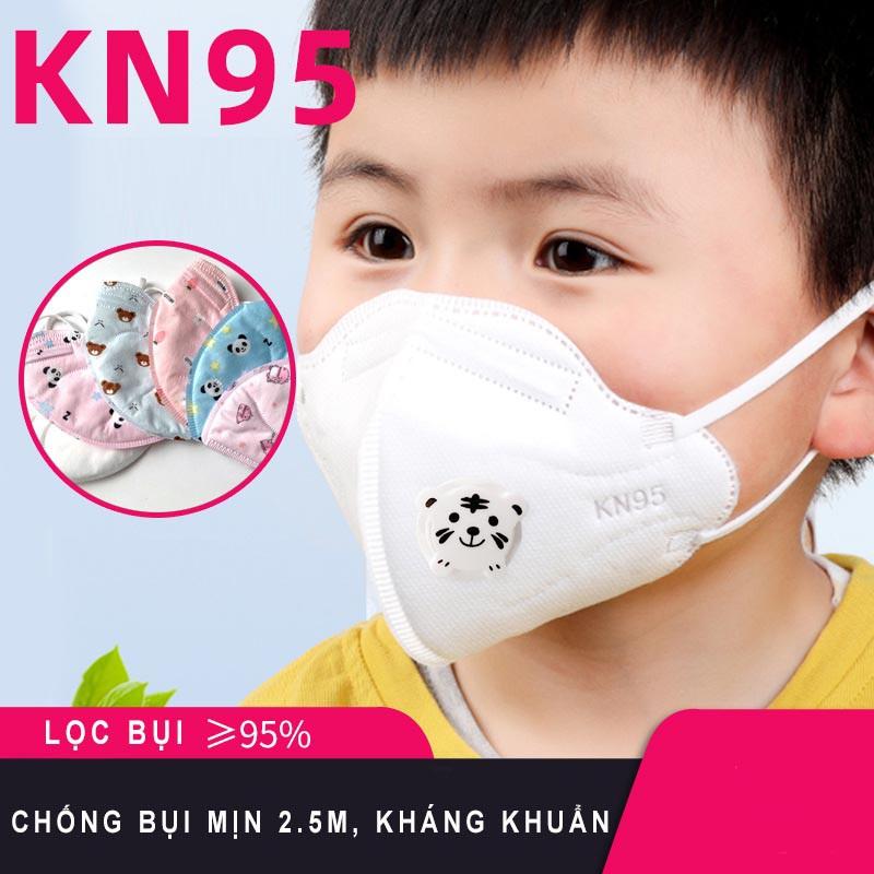 [Có van][10c] Khẩu trang KN95 cho trẻ em - Khẩu trang y tế cho trẻ em chống bụi mịn, kháng khuẩn [Hộp 10 chiếc]