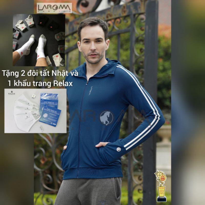 ( Tặng 2 đôi tất Nhật giá 50k ) Áo chống nắng nam Laroma mẫu mới 2021