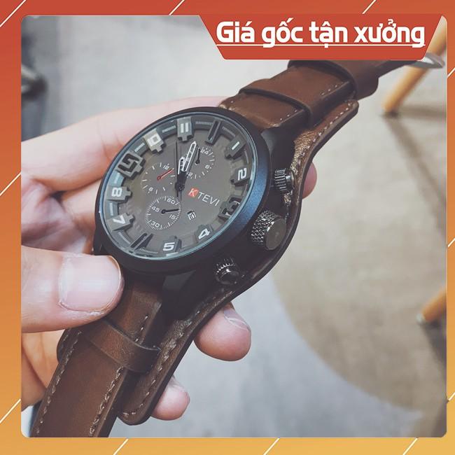 [Video Thực Tế] Đồng Hồ Nam, Đồng Hồ Thể Thao Chồng Nước, Dây Da Cao Cấp