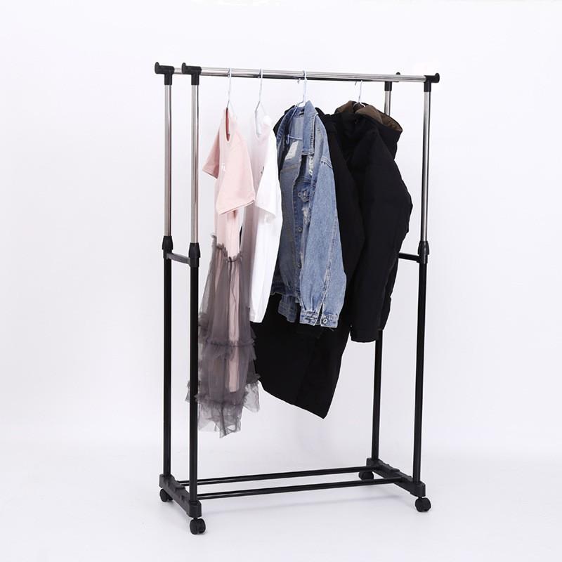 Giàn phơi quần áo inox 2 tầng, Khung phơi quần áo inox, Giá phơi đồ gia đình, Cây phơi đồ 2 tầng chắc chắn