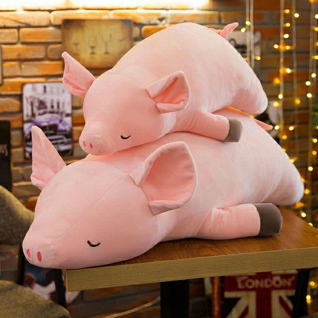 Lợn nằm ngủ nhồi bông đủ size
