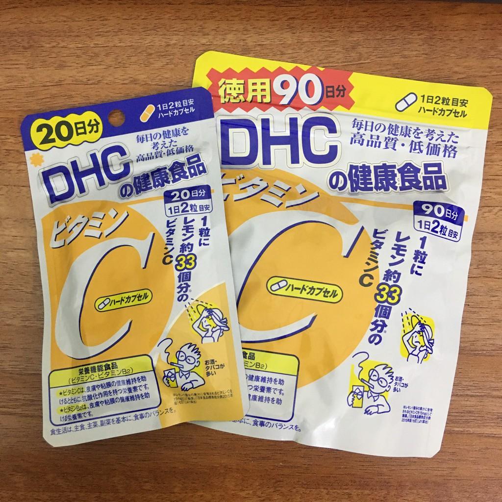 Viên uống Vitamin C DHC hard capsule Nhật Bản dùng tăng sức đề kháng