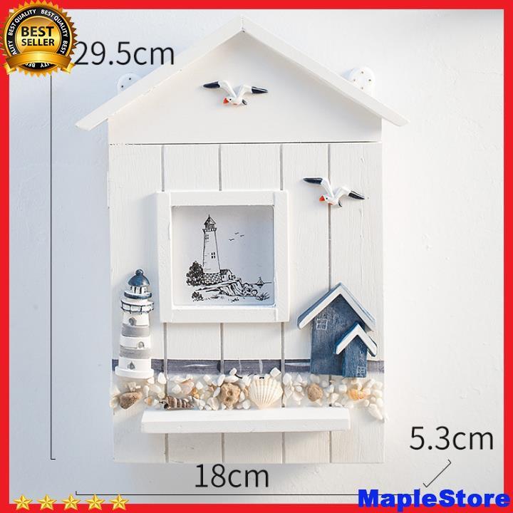 Hộp treo chìa khoá hình ngôi nhà chất liệu gỗ kích thước 29,5*18cm