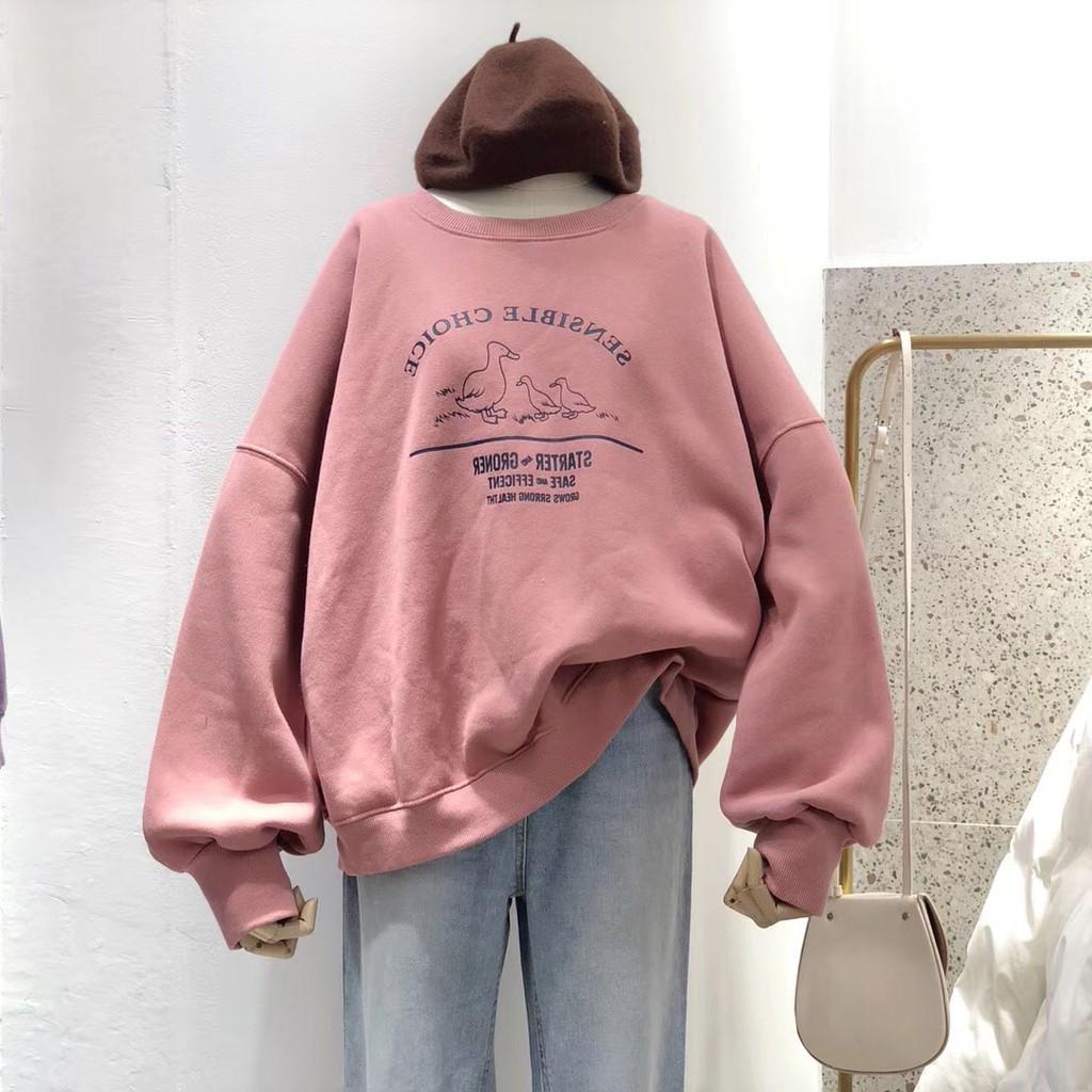 ẢNH THẬT - Áo Sweater Nỉ Bông Ulzzang Dáng Rộng Cho Nữ - Liti shop