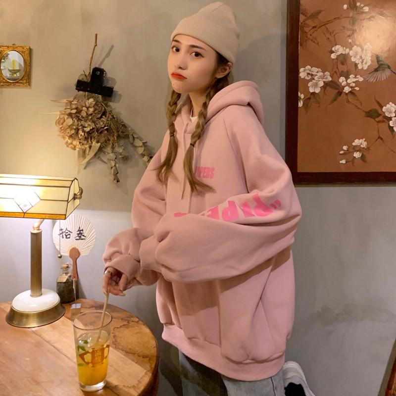 Áo Hoodie Nữ Nỉ Bông Ulzzang Dáng Rộng Phiên Bản Hàn Quốc - Liti shop