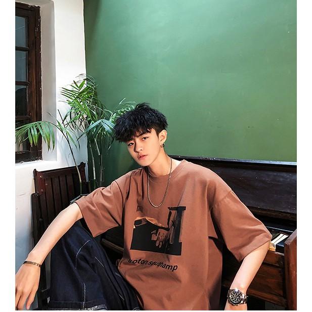 Áo Thun Tay Lỡ Ulzzang Form Rộng Cho Nam - Liti shop