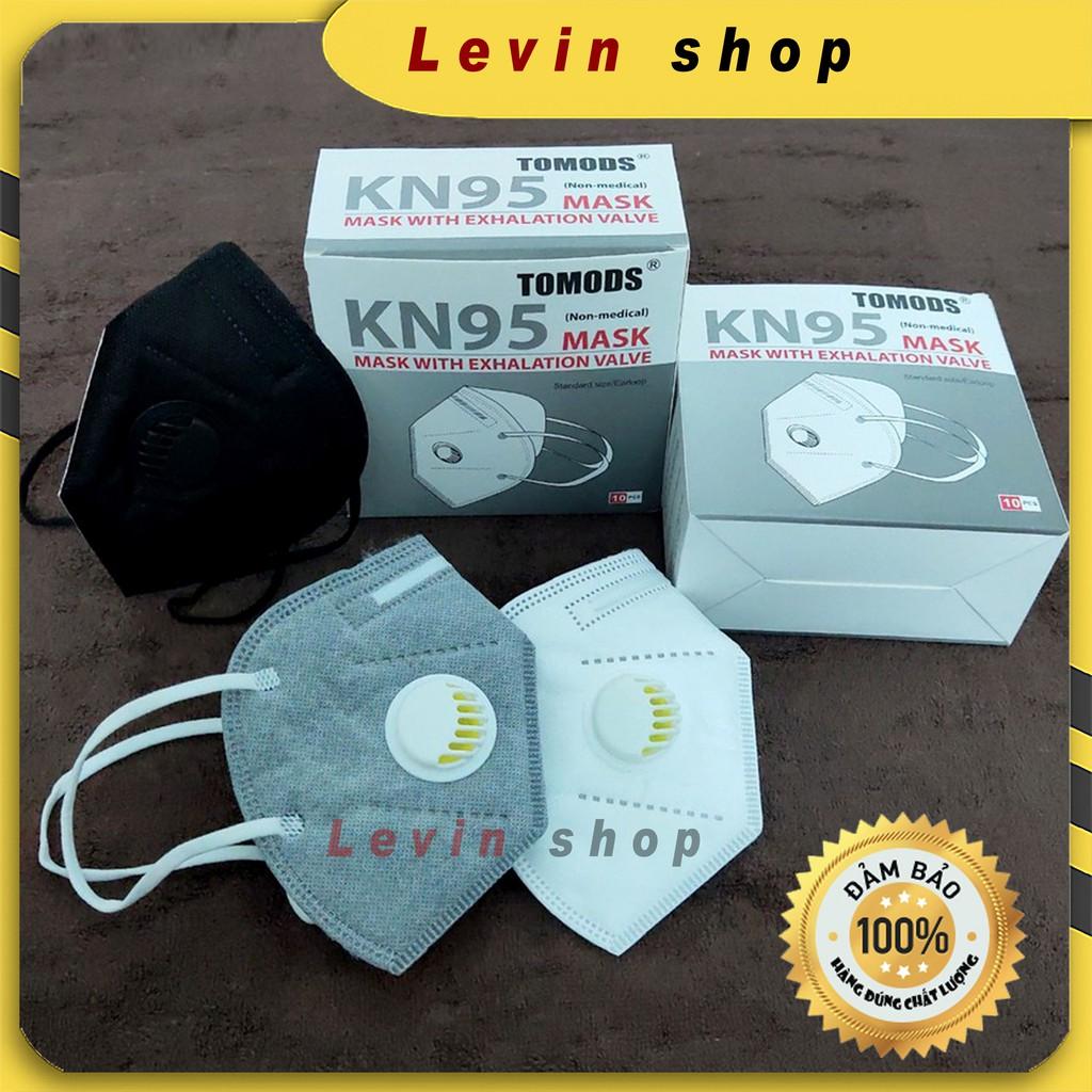 [Hộp 10 chiếc] [có van] Khẩu trang KN95 chống bụi mịn PM2.5, kháng khuẩn