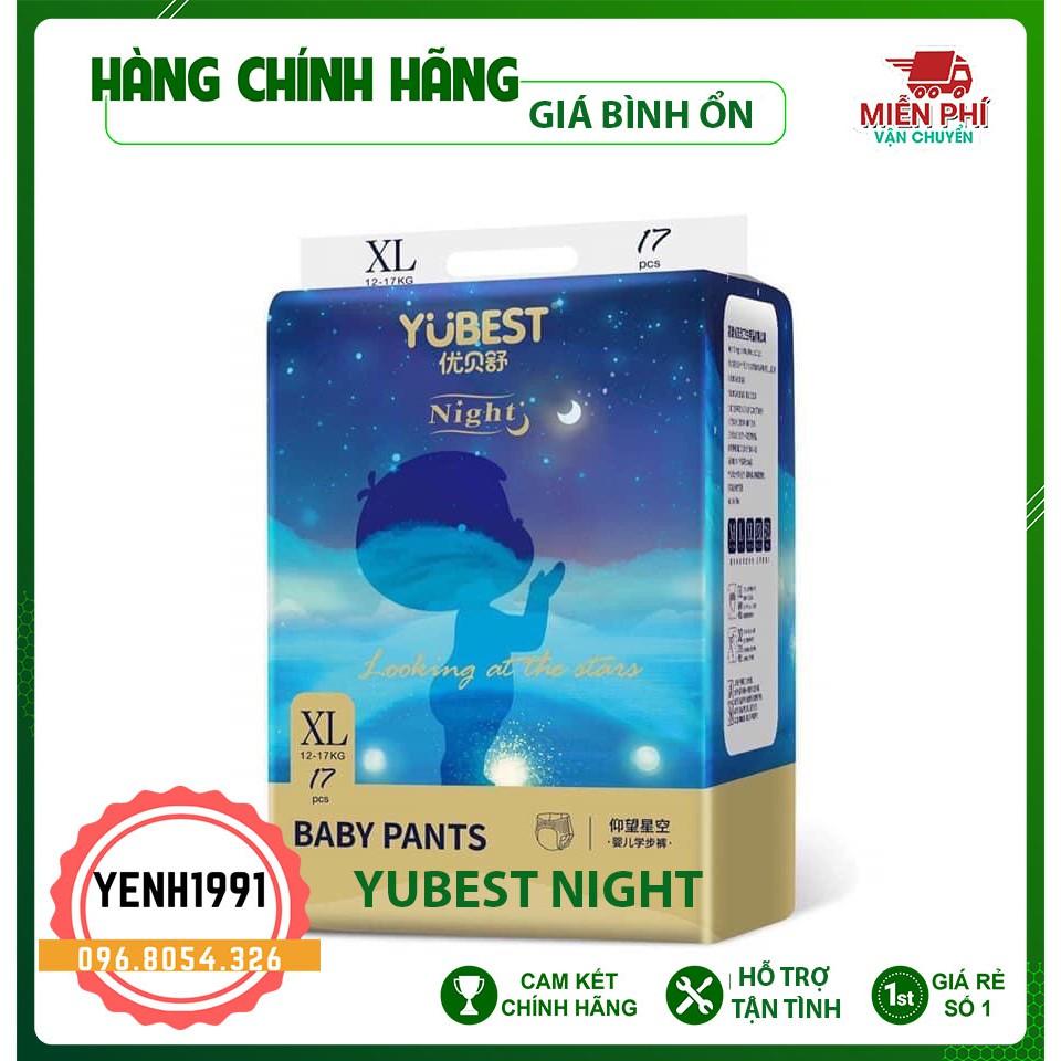 Bỉm YUBEST NIGHT 💖 Dán Quần size S84/M76/L72/XL68/XXL64/XXXL60