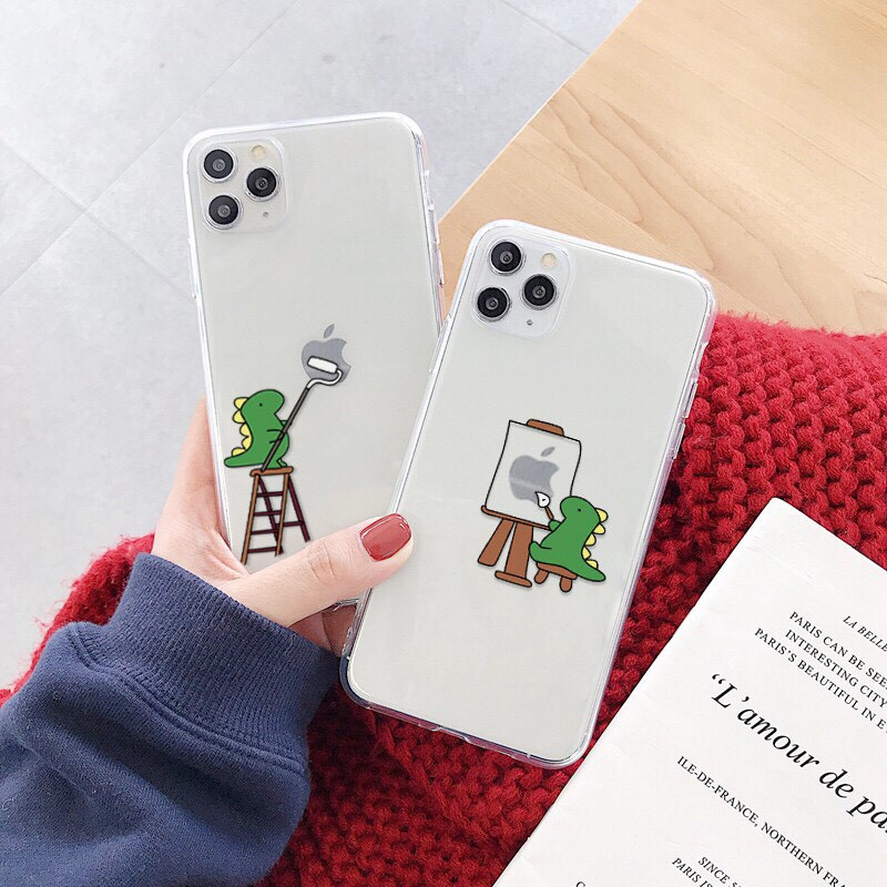 Ốp lưng iphone Khủng Long ChiBi 6 6S 6Plus 6S Plus 7 8 7Plus 8Plus X XSMax 11 ProMax XR - Xưởng Ốp Việt Nam M797
