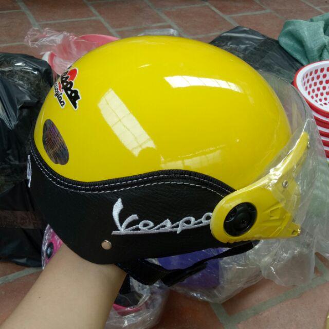 Combo 4 mũ bảo hiểm kính vespa